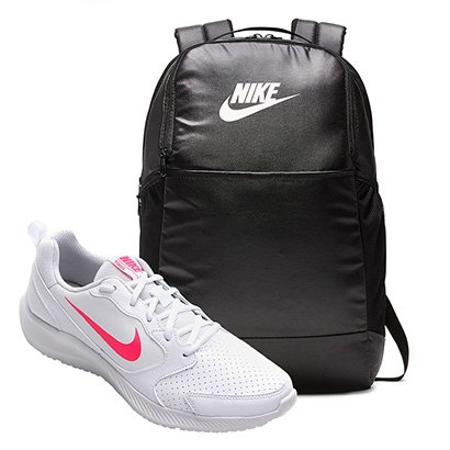 Kit Tenis Nike Todos Flyleather Feminino + Mochila Nike Brasilia