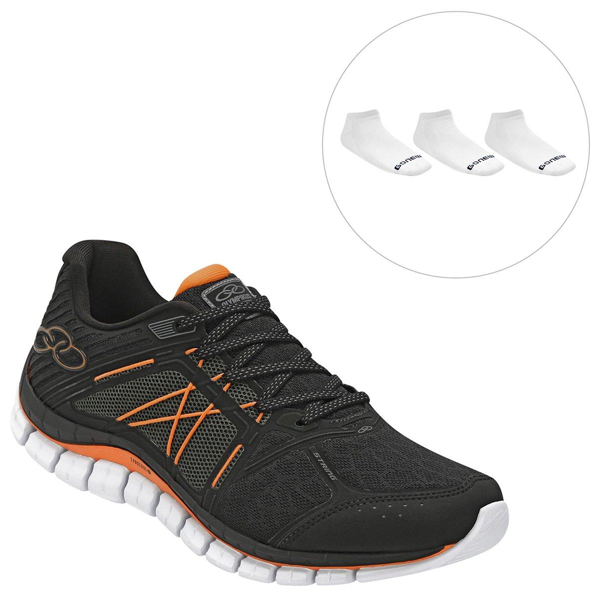 6fde644e99b Kit Tênis Olympikus Masculino para treino + Pacote c  3 Pares de Meias -  Compre Agora