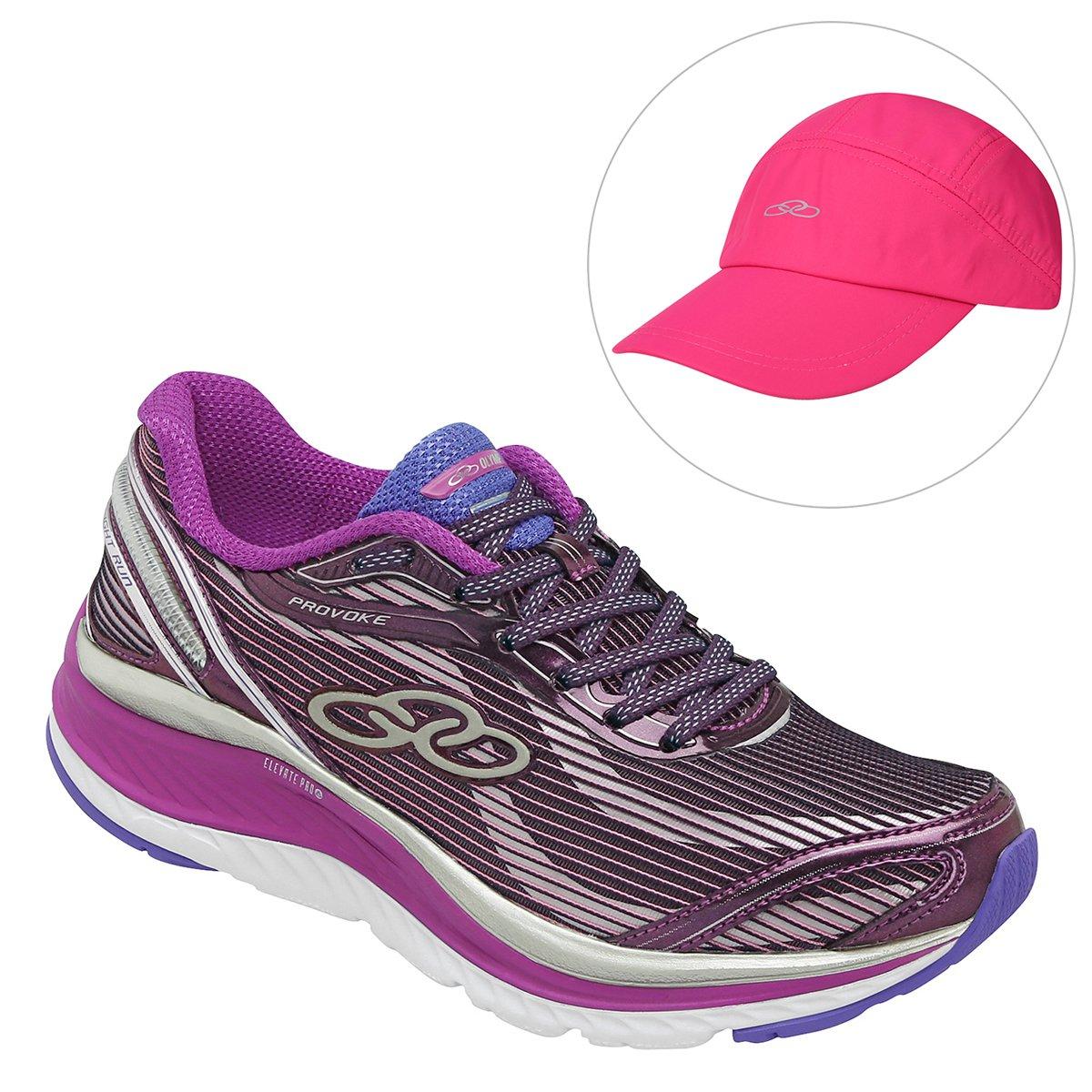 cc86535ccf3 Kit Tênis Olympikus Provoke Feminino + Boné Olympikus Aba Curva Essential - Compre  Agora