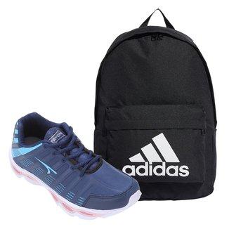 Kit Tênis Tryon Nikko Feminino + Mochila Adidas Classic