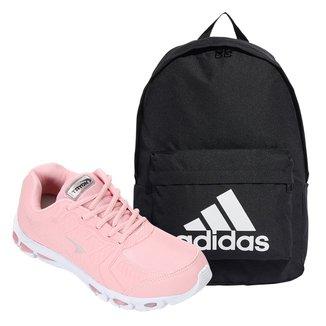 Kit Tênis Tryon Tauri Feminino + Mochila Adidas Classic