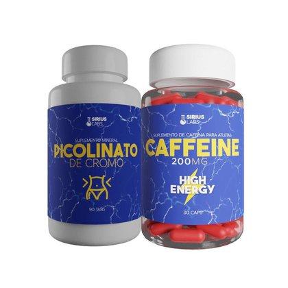 Kit Termogênico - Cromo + Cafeína - Sirius
