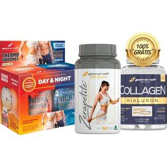 Kit Termogênico Dia e Noite + Zerapetite + Colágeno - Body Action