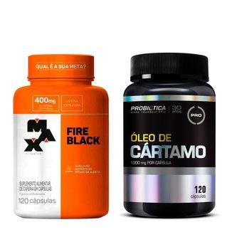 Kit Termogênico Fire Black Max + Óleo de Cártamo Probiótica