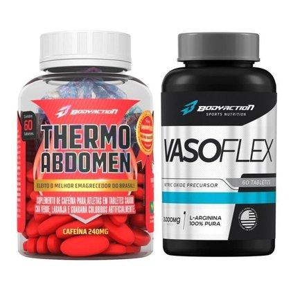 Kit Termogenico Thermo Abdomen 60 Comp + Vasodilatador Vasoflex Extreme - Body Action