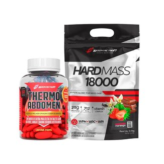 Kit Termogênico Thermo Abdomen + Massa Hard Mass 3kg - Body Action