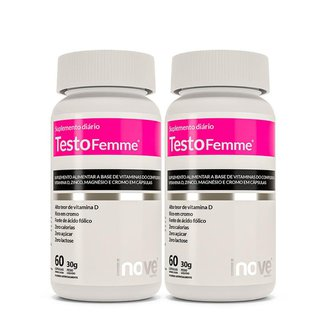 Kit Testofemme® Fórmula Feminina – Inove Nutrition® - 2 potes c/ 60 cápsulas cada