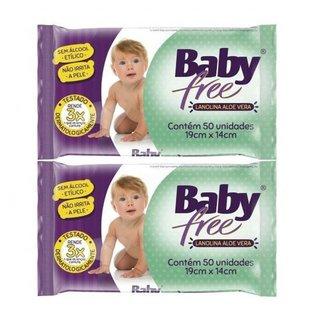 Kit Toalha Umedecida Baby Free 100 Unidades