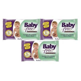 Kit Toalha Umedecida Baby Free 150 Unidades