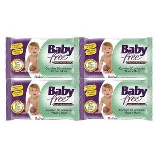 Kit Toalha Umedecida Baby Free 200 Unidades