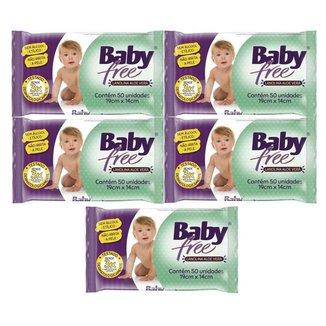 Kit Toalha Umedecida Baby Free 250 Unidades
