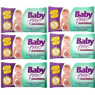 Kit Toalha Umedecida Baby Free 300 Unidades