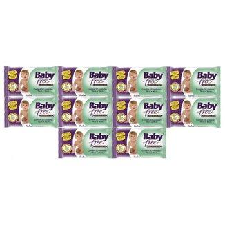 Kit Toalha Umedecida Baby Free 500 Unidades