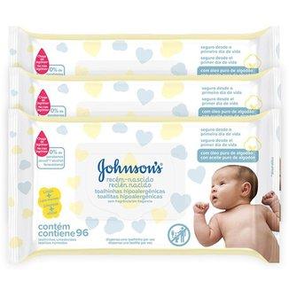 Kit Toalhinhas Recém-Nascido Johnson's 288 unidades