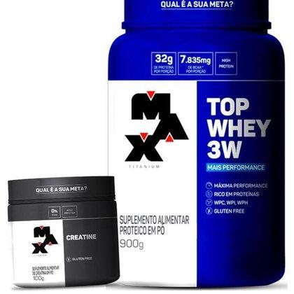 Kit Top Whey 3W + Creatina - Max Titanium