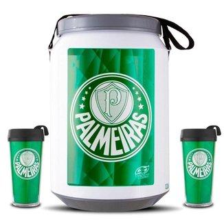Kit Torcedor Palmeiras Cooler e Copos