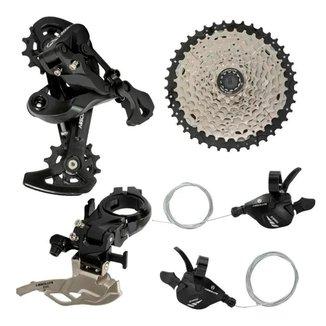 Kit Transmissão Bike 2x10v 20v Absolute A7 C/Cassete Mtb