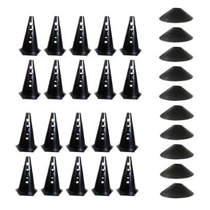 Kit Treino Agilidade com 20 Cones Furados + 10 Chapéus Chinês Natural Fitness - Unissex