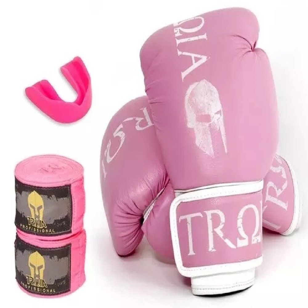 d5619e390 Kit Troia Sport Luva De Boxe   Muay Thay 12 Oz + Bandagem + Protetor Bucal  - Compre Agora
