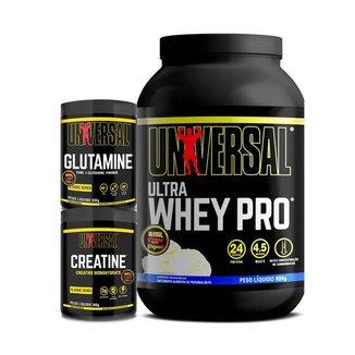 Kit Ultra Whey Pro 900g + Creatine 300g + Glutamine 300g - Universal