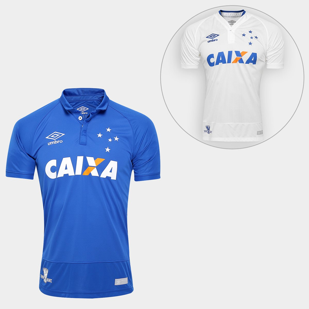Kit Umbro Cruzeiro 16 17 - Camisa I + Camisa II - Compre Agora ... 4a43837370de8