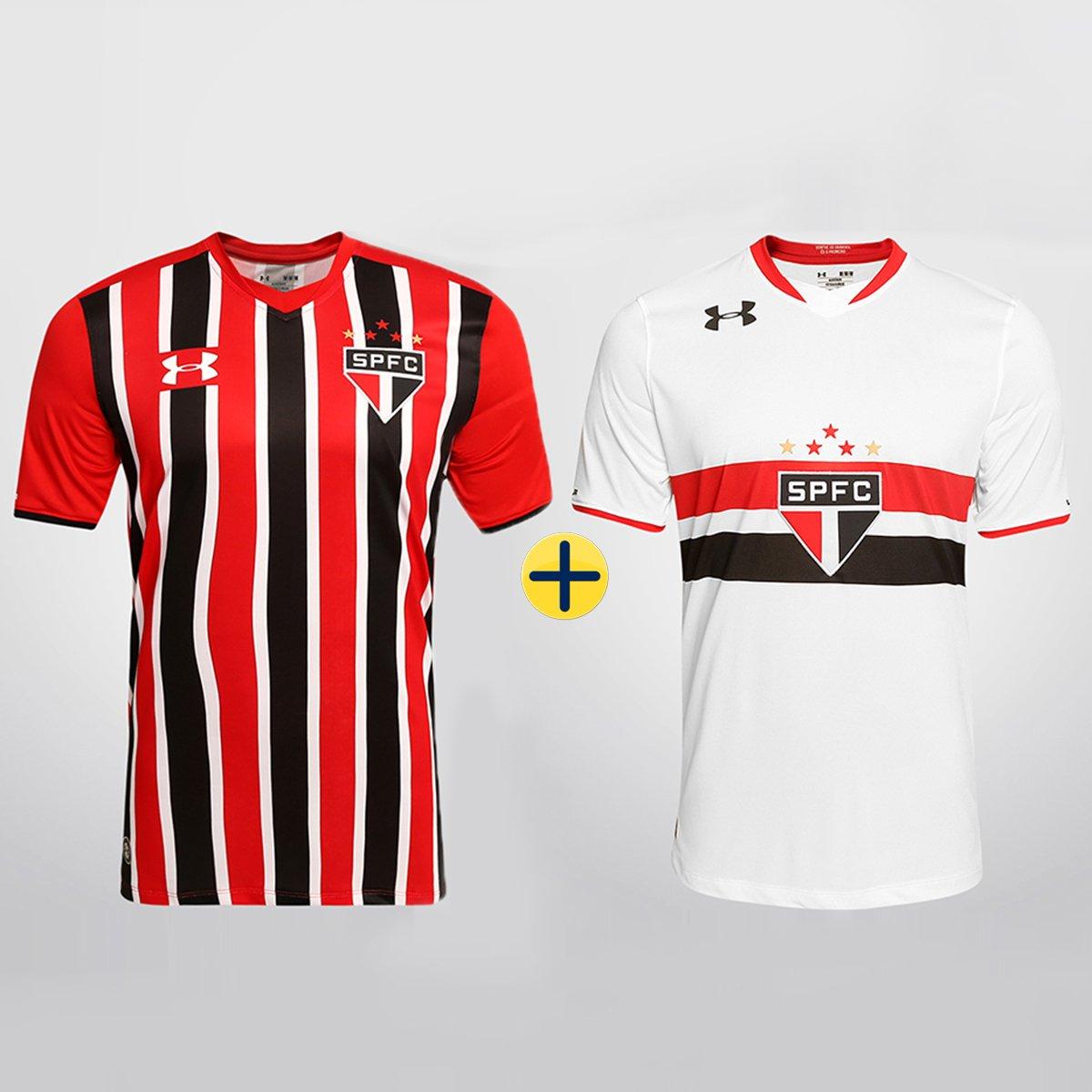 8e7a9dacc59 Kit Under Armour São Paulo - Camisa I 2015 s nº + Camisa II 2015 s nº -  Compre Agora