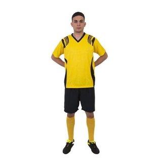 Kit Uniforme Play Fair Completo Roma 12 Linha 1 Goleiro