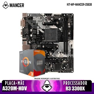 Kit Upgrade, AMD Ryzen 3 3300X, A320M-HDV