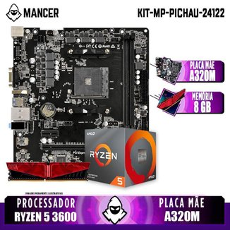 Kit Upgrade, AMD RYZEN 5 3600 + A320M + 8GB DDR4