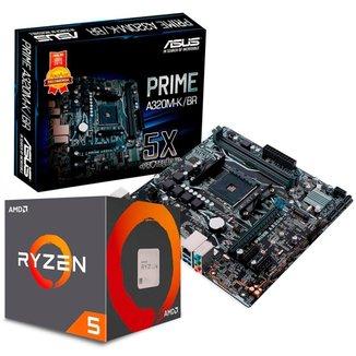 Kit Upgrade AMD Ryzen™ 5 3600 + Asus PRIME A320M-K/BR