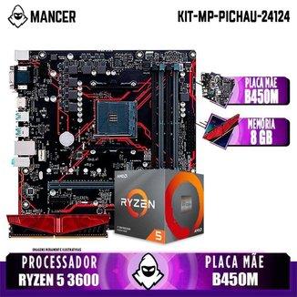 Kit Upgrade, AMD RYZEN 5 3600 + B450M + 8GB DDR4