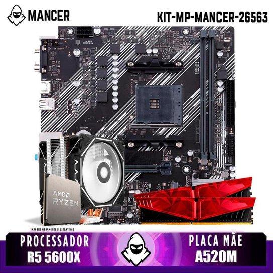 Kit Upgrade, AMD Ryzen 5 5600X, Cooler Corax, A520M, 16GB DDR4 - Preto