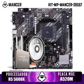 Kit Upgrade, AMD Ryzen 5 5600X, Cooler Corax, A520M