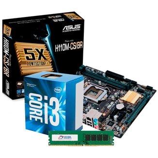 Kit Upgrade Intel® Core™ i3 7100 + Asus H110M-CS/BR + Memória 8GB DDR4