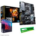 Kit Upgrade Intel® Core™ i7 9700KF + Gigabyte Z390 D + Memória 8GB DDR4