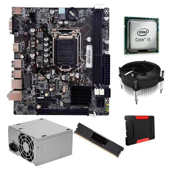 Kit Upgrade, Intel  I5 + Cooler i30, H61, 4GB, SSD 120GB, 200W - Preto