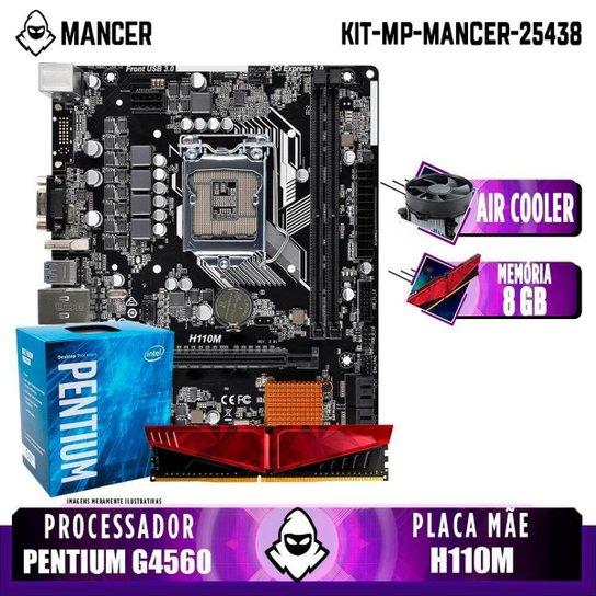 Kit Upgrade, Intel PENTIUM G4560, H110M, 8GB DDR4 - Preto