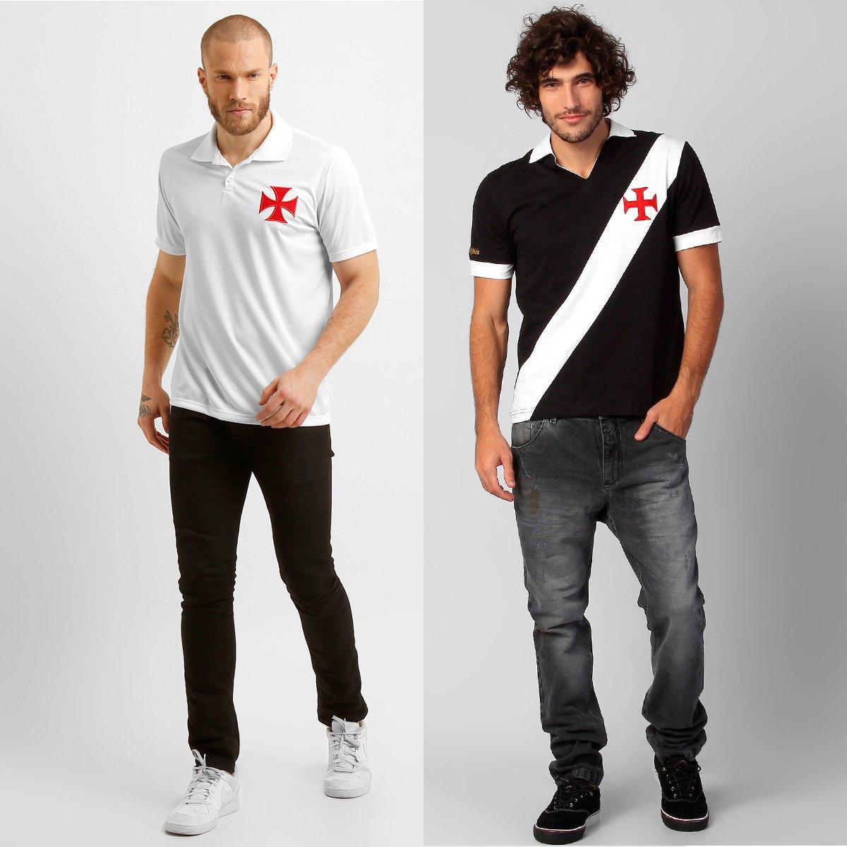 90c116dfdd746 Kit Vasco - Camisa Polo + Camisa Retrô - Compre Agora