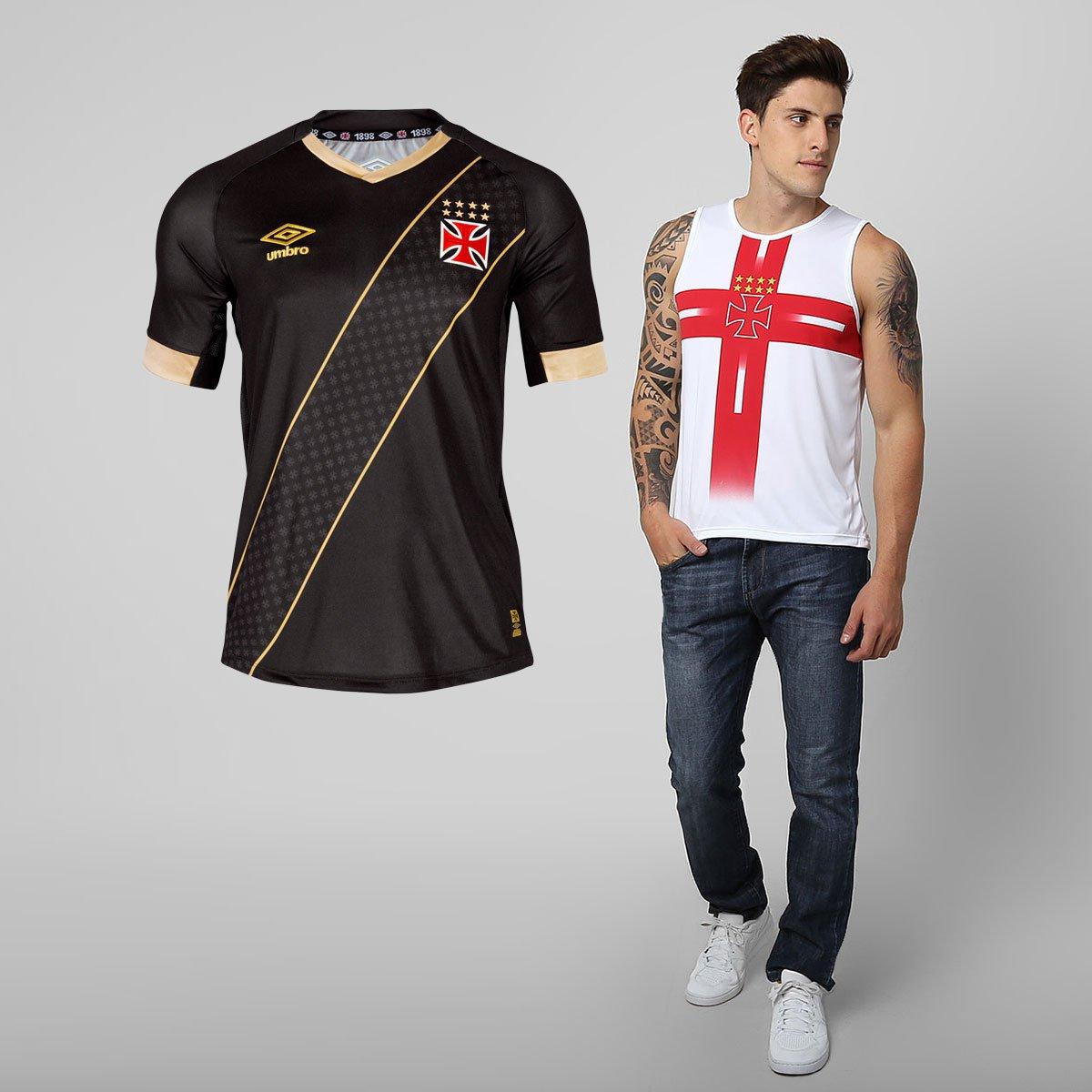 1248393076 Kit Vasco - Camisa Umbro Vasco III 2015 + Regata Templária - Compre Agora