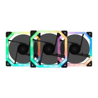 Kit Ventoinhas Mancer Ventus RGB 3x120mm + Controladora, MCR-VTRGB-01