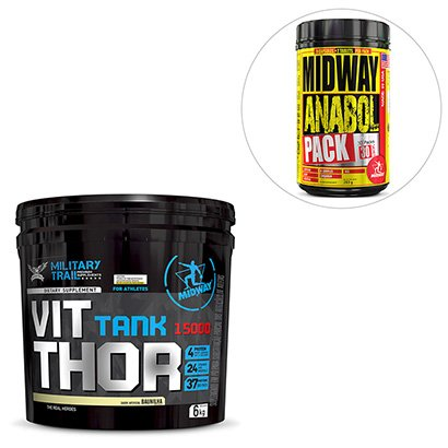 Kit Vit Thor 15000 6 kg Military Trail + Anabol Pack USA 30 Pack Midway