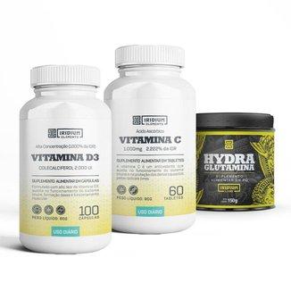 Kit Vitamina C + Vitamina D + Hydra Glutamina 150