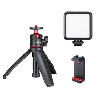 Kit Vlog para Celular - Mini Tripé + Suporte Celular + Luz de Led - Ulanzi