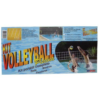 Kit Volleyball Piscina Completo Branco