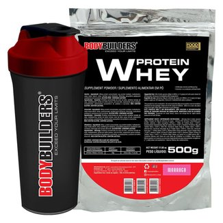 Kit Whey 500g Chocolate + Coqueteleira - Bodybuilders