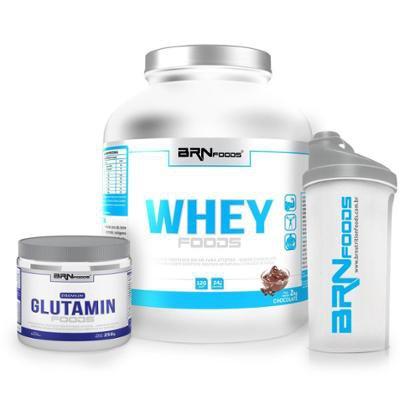 Kit Whey Foods 2kg + Premium Glutamin 250g + Coqueteleira – BRNfoods