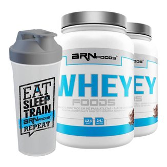 Kit Whey Foods 900 g - BR Nutrition Foods - c/ 2 unidades + Coqueteleira
