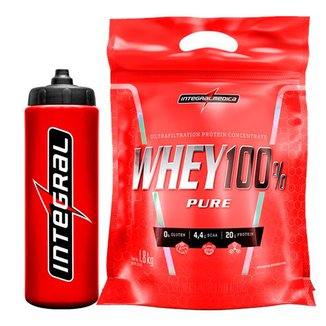 Kit Whey Protein 100% Super Pure 1,8 Kg + Squeeze  IntegralMédica