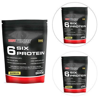 Kit Whey Protein 3x 6 Six Protein Refil 900g ? Bodybuilders