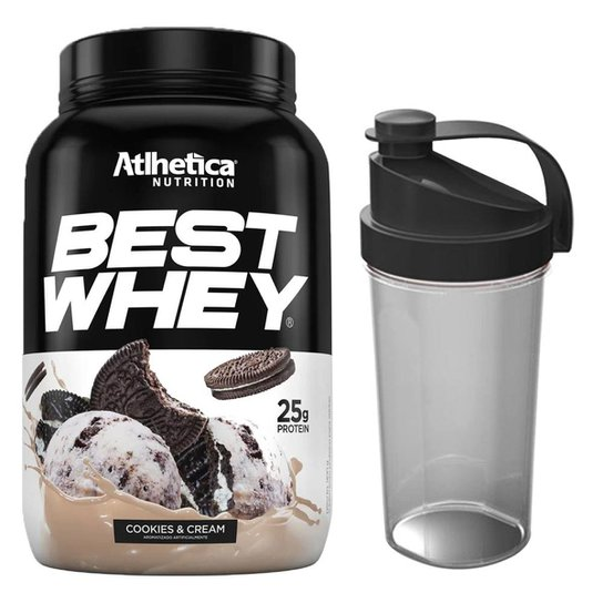 Kit Whey Protein Best Whey 900g + Coqueteleira  Atlhetica Nutrition -